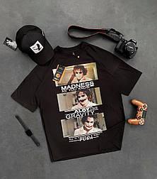 😜 Футболка Чоловіча футболка оверсайз / футболка оверсайз чорна з принтом джокер