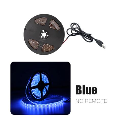 Светодиодная лента с USB 2835 LED 200см. синий, фото 2