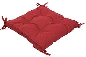 Подушка на стул Iris Home 40*40*5 - Optima с завязками красный