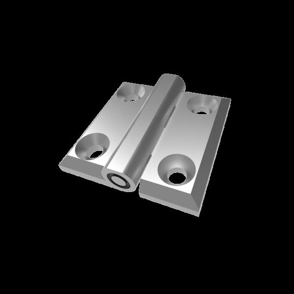Металлическая накладная петля 40 RZ 424-V1, 40х40 мм, хром (Турция)