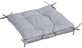 Подушка на стул Iris Home 40*40*5 - Optima с завязками серый