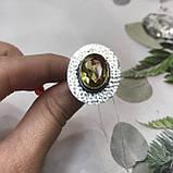Цитрин 17,7 размер кольцо с цитрином кольцо с камнем цитрин желтый в серебре Индия, фото 4