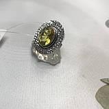 Цитрин 17,7 размер кольцо с цитрином кольцо с камнем цитрин желтый в серебре Индия, фото 5