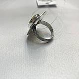 Цитрин 17,7 размер кольцо с цитрином кольцо с камнем цитрин желтый в серебре Индия, фото 8