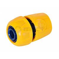 Конектор пластиковий з аквастопом, 1/2,  72-101 Verano // Коннектор адаптор