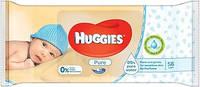 Huggies Pure салфетки влажные детские 56шт (5029053550039)