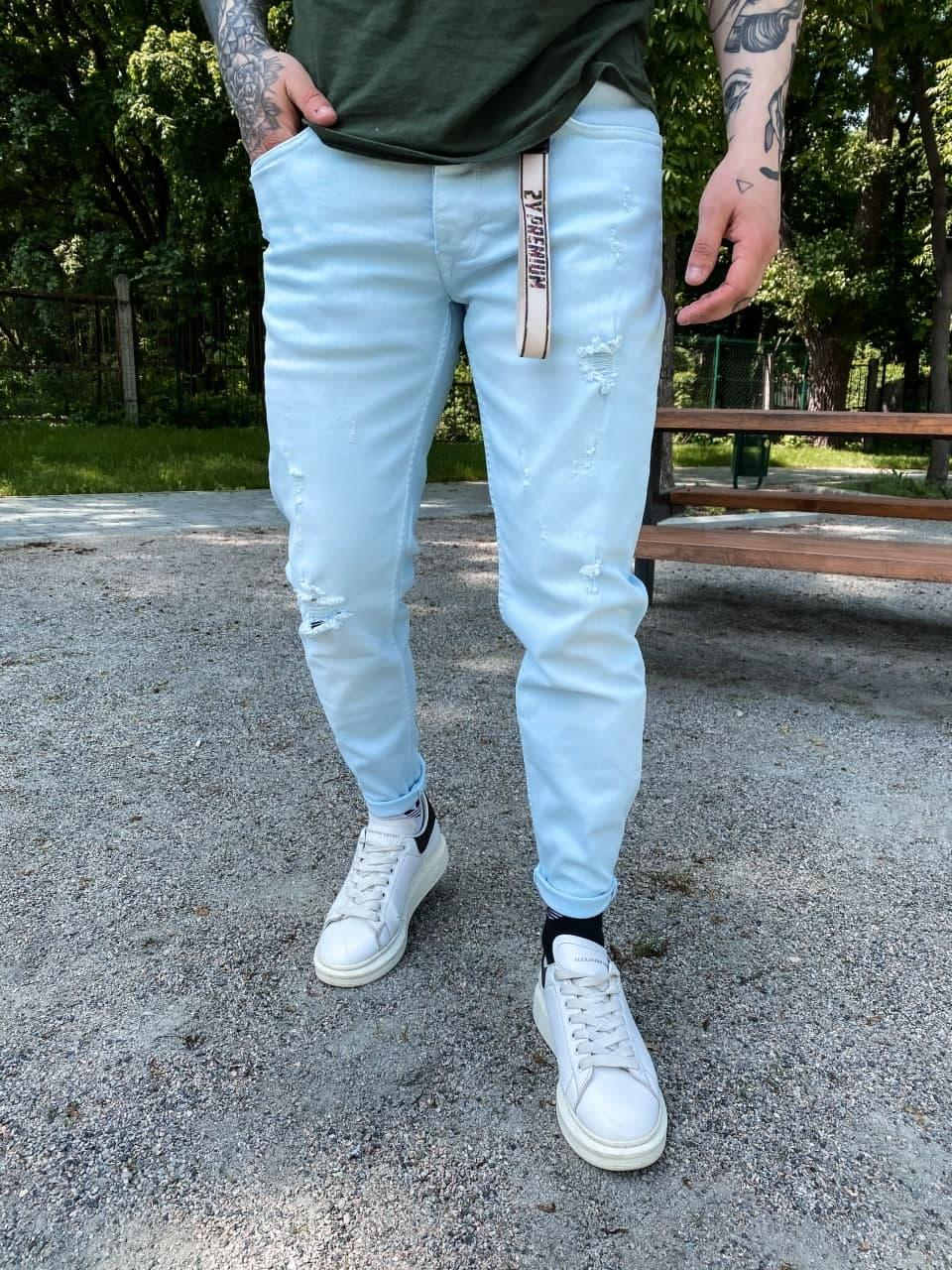 Джинси - блакитні джинси Чоловічі / чоловічі джинси голубі
