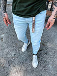 Джинси - блакитні джинси Чоловічі / чоловічі джинси голубі, фото 2