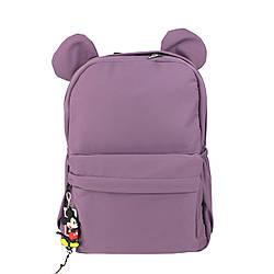 Детский фиолетовый рюкзак с ушками для девочек школьниц