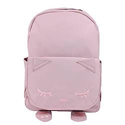 Рюкзак школьный тканевый Котик розовый Детская