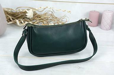 """Сумка жіноча. Шкіряна сумочка """"Джулс"""", Шкіра Італійський краст, колір Зелений"""