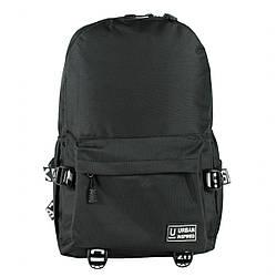 Рюкзак школьный с поясами Urban текстиль черный