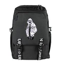Рюкзак школьный vision черный текстильный Urban
