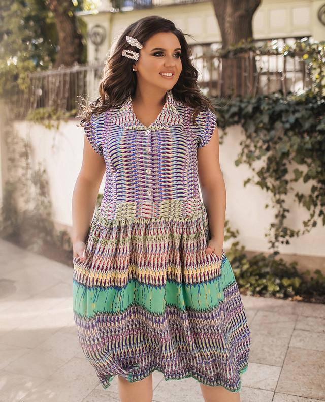 Женское летнее повседневное платье свободного кроя