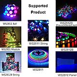 Контроллер адресной RGB WS2812 ленты c радио управлением RF21, фото 5
