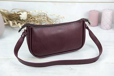 """Сумка жіноча. Шкіряна сумочка """"Джулс"""", Шкіра Італійський краст, колір Бордо"""
