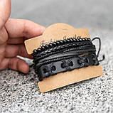 Браслет мужской кожаный mod.HARLEM чёрный, фото 9