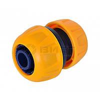 Ремонтний з'єднувач пластиковий для шланга, 3/4,  72-146 Verano // Ремонтный соединитель адаптор коннектор для шланга