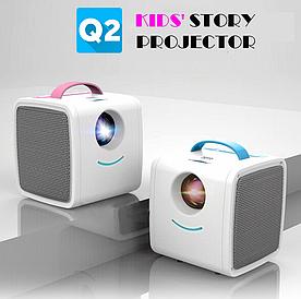 Детский мини проектор Q2 Kids Story Projector Pink / Портативный проектор