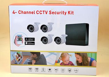 Набор видеонаблюдения (4 камеры) 2MP, 4-Channel CCTV Security Kit