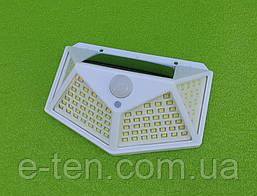 """Уличный светодиодный настенный фонарь CL-100 / 100 LED на солнечной батарее (с датчиком движения) """"БЕЛЫЙ"""""""