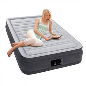 Надувная двуспальная кровать Intex 67766 Comfort (99-191-33см), встроенный электронасос