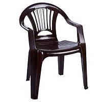 Кресло пластиковое «Луч», шоколадное