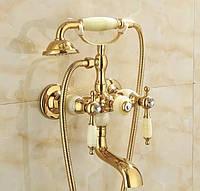 Змішувач для ванни і душа FUTURA NATURE GOLD Золото