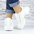 Кросівки жіночі білі сіточка еко нубук (b-698), фото 7