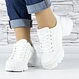 Кросівки жіночі білі сіточка еко нубук (b-698), фото 3