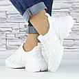 Кросівки жіночі білі сіточка еко нубук (b-698), фото 4