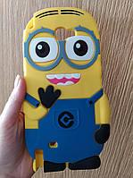 Силиконовый чехол Миньон для Samsung Galaxy Note 2, Minions
