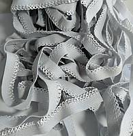 Резинка кружевная, светло-серая 9 мм.