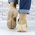 Кросівки жіночі бежеві сіточка еко нубук (b-699), фото 6