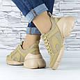 Кросівки жіночі бежеві сіточка еко нубук (b-699), фото 7