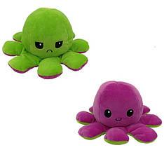 Мягкая игрушка осьминожка перевёртыш двухсторонний большой зеленый-сиреневый