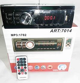 Автомагнитола MP3 1782 ISO,  MP3 Player, FM, USB, microSD, AUX