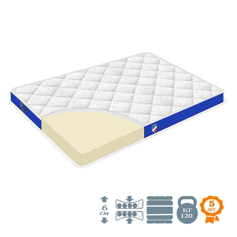 """Матрац-топпер ортопедичний """"Marseilles"""" р. 190х160 см середньої жорсткості на ліжко/диван (h 6 см)"""