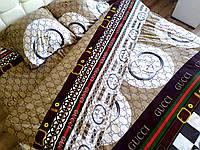 Сатиновое полуторное постельное белье Gucci