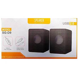 Компьютерные колонки SPEAKER D9 usb 2.0 / Колонки для ноутбука