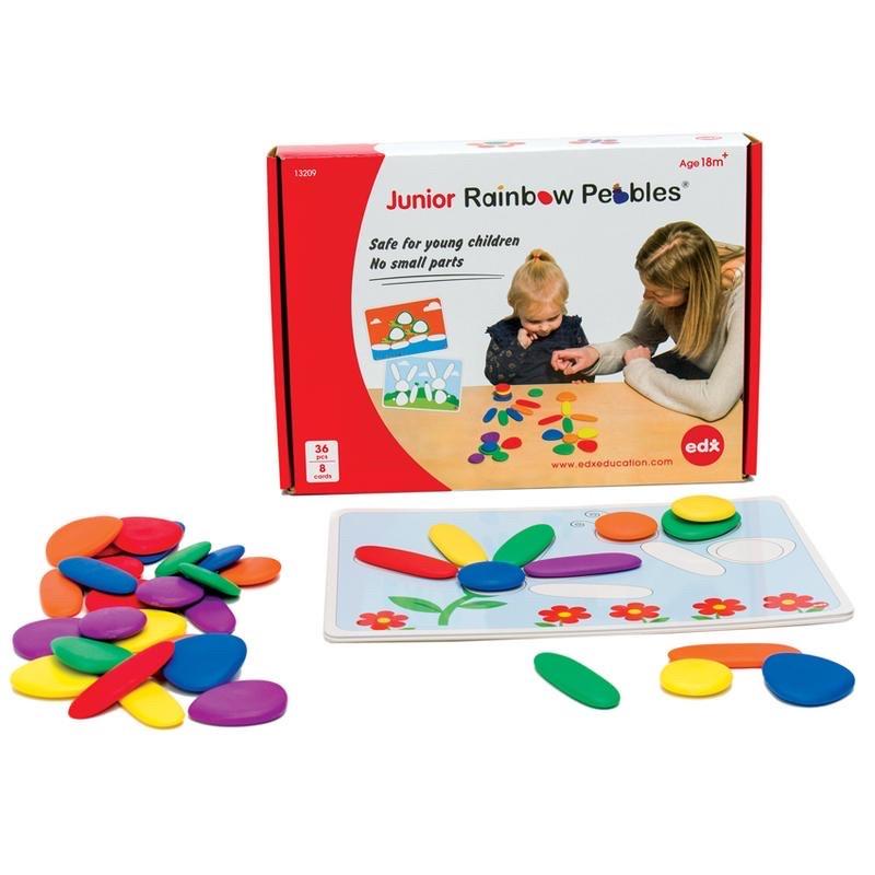 Развивающий набор EDX Education Радужная галька. Набор для малышей с карточками