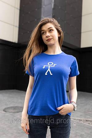 Футболка синяя женская
