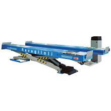 Подъемник ножничный (электрогидравлический, грузоподъёмность 3500кг, ровные платформы 615х4600мм) - Made in