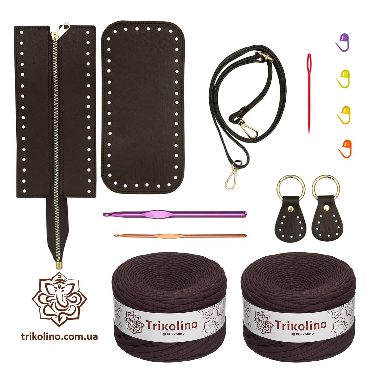 Набор для сумки Liberty, цвет Шоколад (пряжа - Шоколад)