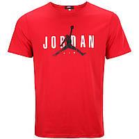 Футболка спортивная мужская красная NIKE JORDAN Ф-10 RED L(Р) 21-904-020