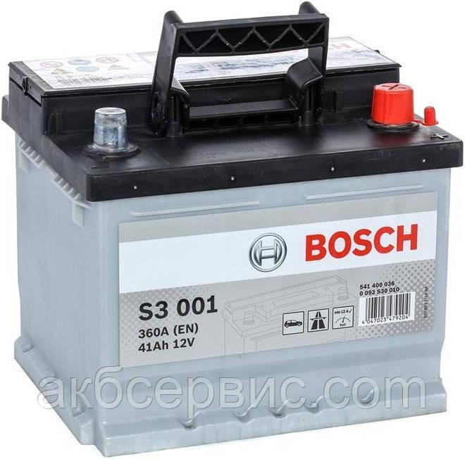 Акумулятор автомобільний Bosch 6СТ-41 S3 (S30 010)