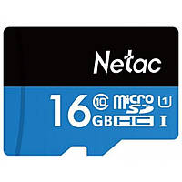 Карта памяти Netac microSDHC 16GB Class 10 UHS-I U1 (NT02P500STN-016G-S)