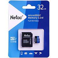 Карта памяти Netac microSDHC 32GB Class 10 UHS-I U1 + SD-адаптер (NT02P500STN-032G-R)
