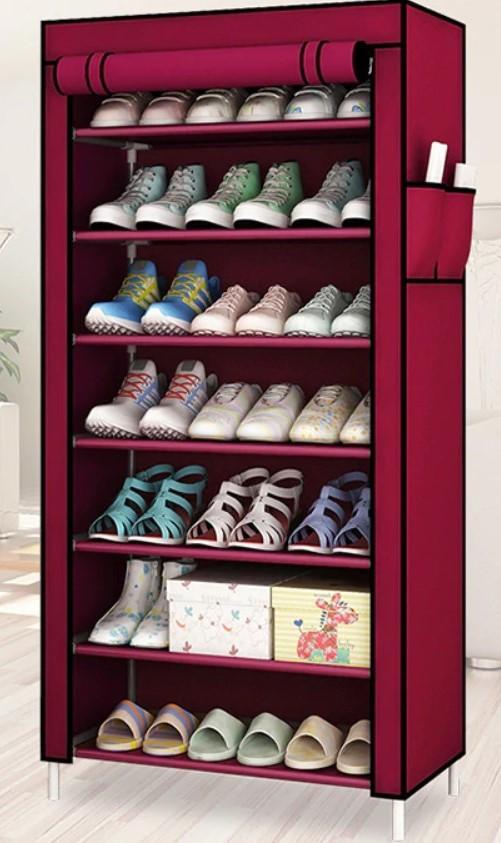 Стелаж для хранеия взуття Shoe Frame FH-5578 Рожевий