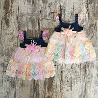 """Сукня дитяча пишна """"КВІТКА"""" для дівчинки 6-12 міс,колір уточнюйте при замовленні"""